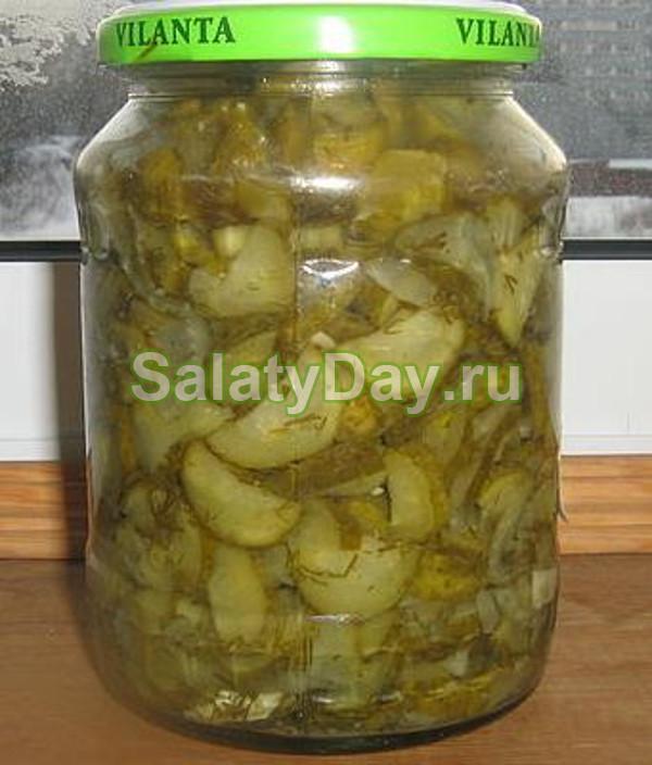 Салат из огурцов с горчицей на зиму «по-украински»