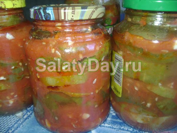 Салат из огурцов «Тещин язык»