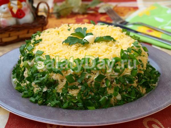 Сытный салат с рисом