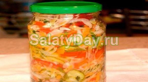 Салат с добавлением капусты на зиму