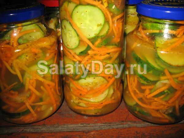 салат из больших огурцов на зиму рецепты