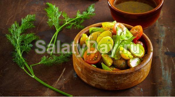 Картофельный салат с укропом и хреном