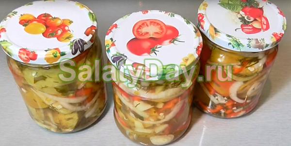 Салат из зелёных помидоров «Летний»