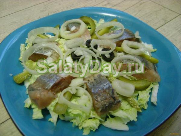 Салат из сельди греческий