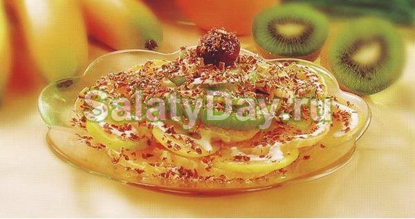Салат Изюминка с йогуртом - рецепт пошаговый с фото