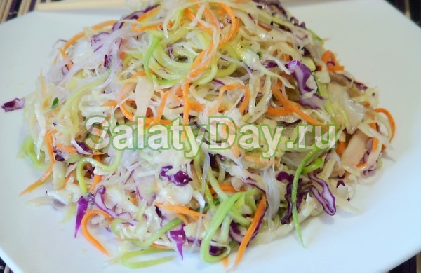 Салат с фунчозой - Харбинский