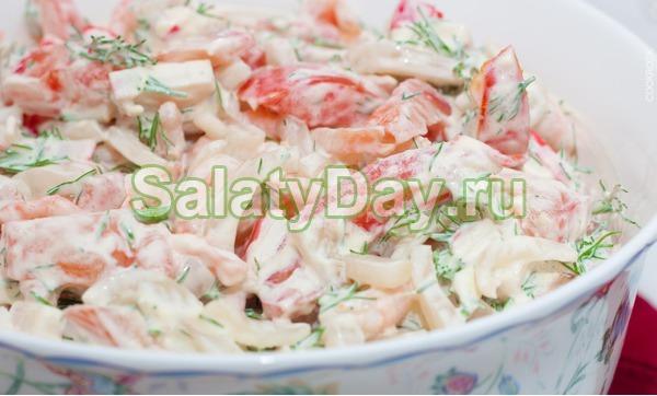 Салат «Жемчужина» со спаржей и креветками