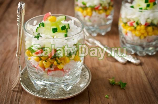 Салат крабовый с кукурузой «Праздничный»