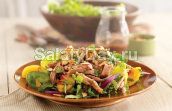 Салат из сердца – с чесноком и майонезом