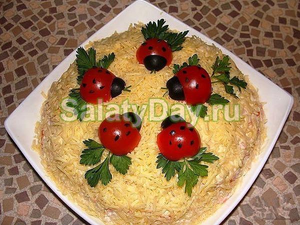 Рецепты салатов с красивым оформлением