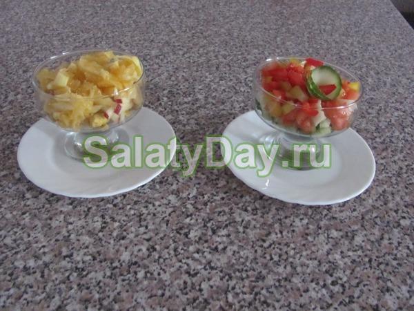 Салат коктейль с ветчиной и сыром «Греческое утро»