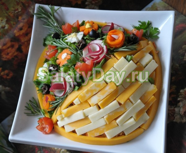 Салат «Корзина с цветами»