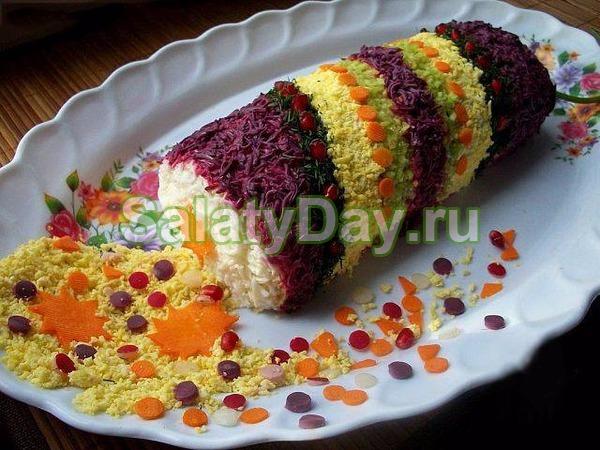 Красочный салат «Хлопушка»
