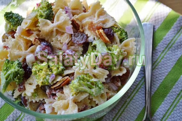Салат из брокколи с пастой