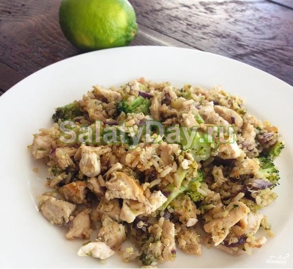 Салат из брокколи с грибами