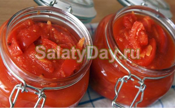 Классическое лечо из болгарского перца
