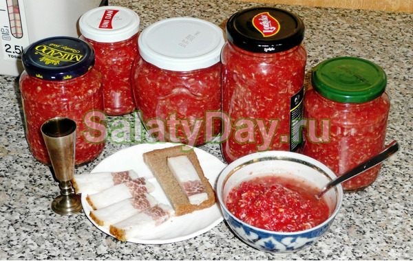 Хреновая закуска на зиму с болгарским перцем