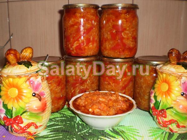 Рис   баклажаны =салат без стерилизации