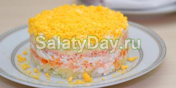 Рецепт салата мимоза рисом