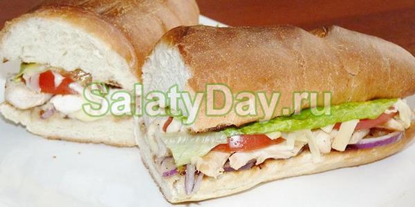 Бутерброд с овощами