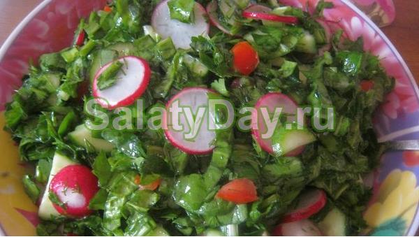 Овощной салат к шашлыку
