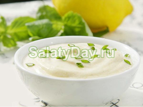 Сметанный соус к салату