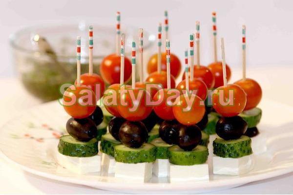 Канапе «Греческий салат»