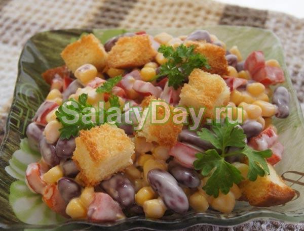 Салат фасоль лук маринованный ветчина