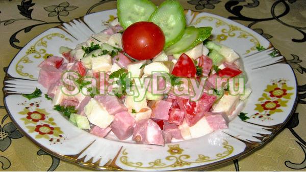 Салат с помидорами «Для двоих»