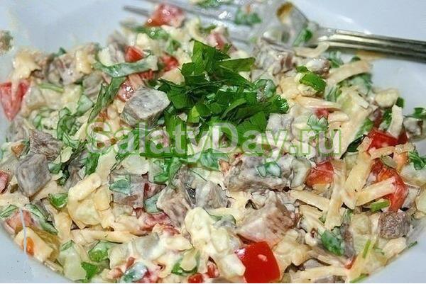 Салат с помидорами «Самый вкусный»