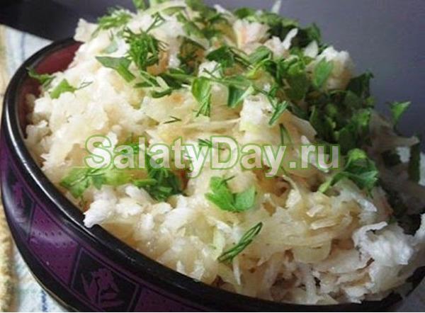 Салат из белой редьки - просто и полезно