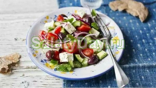 Греческий салат с брынзой – традиционный рецепт