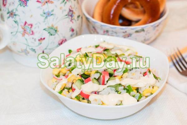 """Крабовый салат """"Весенний"""""""